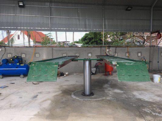 cầu nâng 1 trụ việt nam sản xuất