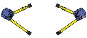 Mô tả tay cầu nâng 2 trụ bất đối xứng