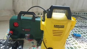 Mua máy rửa xe karcher hay bosch