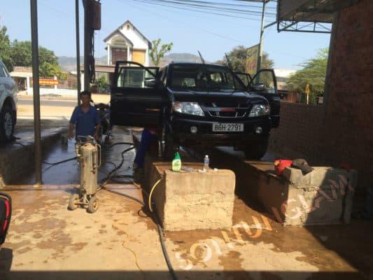 xây cầu rửa xe bê tông đúng cách