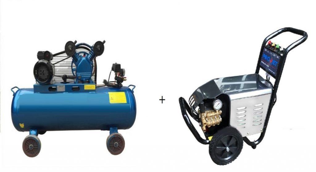 Máy nén khí rửa xe chuyên nghiệp là gì?